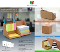 Folding Paper Cube (With Memopad and Tumbler)