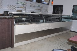 Fast Food Glass Display Counter