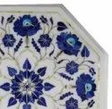 Marble Center Coffee Table Top Inlay Work