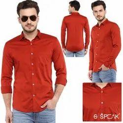 SPEAK Full Sleeves Men Plain Cotton Shirts
