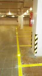Parking Area Yellow Stripes Marking Services