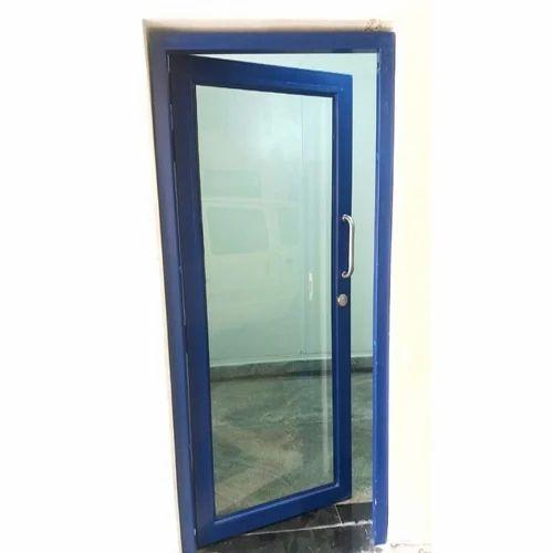 Blue Steel Framed Glass Door Sizedimension 1100 X 2100 Mm Rs