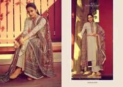 Mumtaz Arts Unstitched Jamdani Karachi Cotton Dress Materials, Dry clean