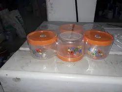 Transparent Round Plastic Euro Container, For Kitchen Storage