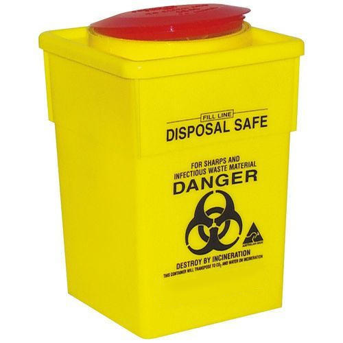 Plastic Yellow Red Disposal Sharp Container Rs 99 Piece
