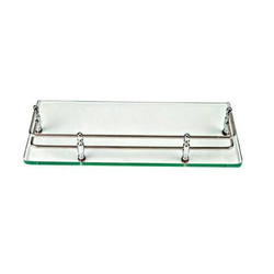 Ap Glass Rectangular Corner Shelf