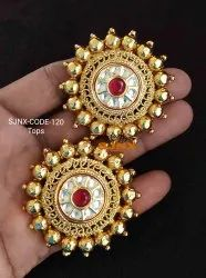 Gold Traditional Tops Earings