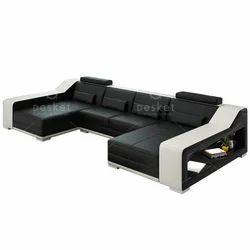 U Shaped Leather Sofa Set