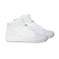 Mens White High Ankle Casual Shoes