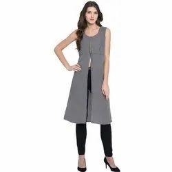 Women A-line Black Dress