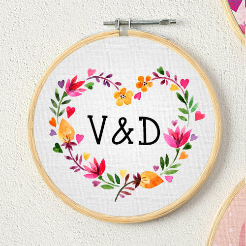 284b96c5e43 Personalized Designer Circular Frame First Letter of the Name ...