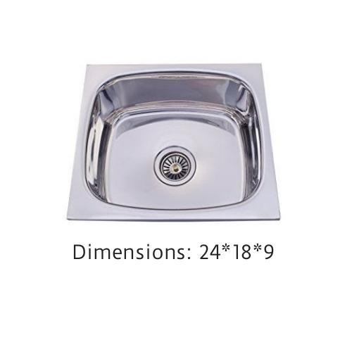 RIO 24 x 18 x 9 Stainless Steel Sink