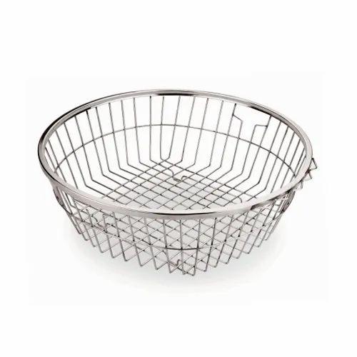SS Round Basket