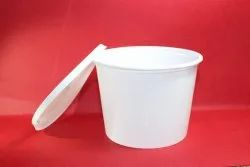 White Plain Plastic Food Containers
