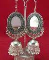 Nk Handmade Trendy Fashion Oval Jhumki Earring Oxidized Silver