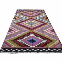 Dhurry Embroidery Kilim Cotton Durries