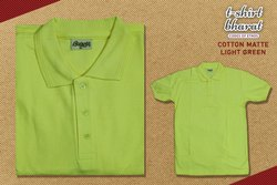 Collar Cotton Pique Polo T-Shirt Light Green