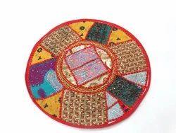 Embroidered Cotton Kambadiya Handmade Dining Round