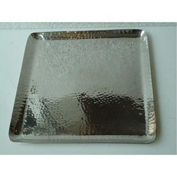 S.S Hammered Square Platter