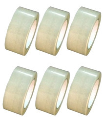Self Adhesive Transparent Tape For Packaging, Length: Upto 65 M