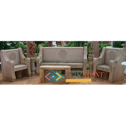 Stone Sofa with Center Table