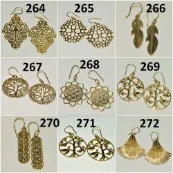 Brass Fancy Earring