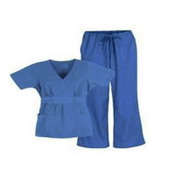 Pure Cotton Blue And White Hospital Staff Uniforms, Size: Large And XL