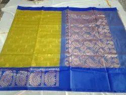 Casual Wear Korvai Silk Cotton Saree