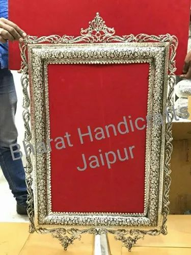 Base Metal Is Brass Wall Mirror Silver Plated Rs 0 01 Gram Bharat Handicrafts Id 22240652748