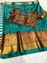 Cotton Silk Saree With Stiched Blouse