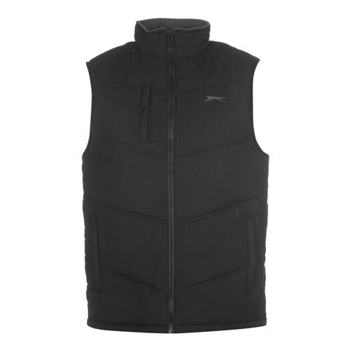 df56d6e36a5fcf Polyester Nylon Casual Wear Mens Black Sleeveless Jacket