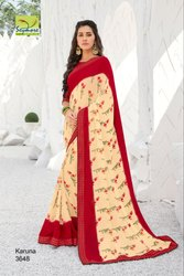 Seymore Party Wear Fancy Georgette Printed Latest Saree, 5.5 M (Separate Blouse Piece)
