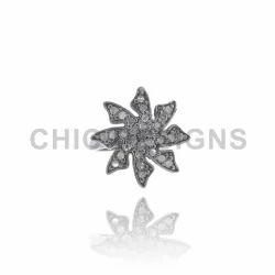 Pave Diamond Windmill Mid Ring Jewelry