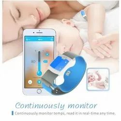 Bluetooth 4.0 Remote Children Wearable Electronic Thermometer Smart Body Infant Temperature