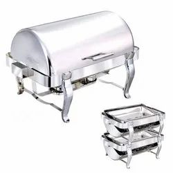 Stainless Steel SS Small Full Rectangular Roll Top, Capacity: 9 Ltr, Dimension: 700 X 480 X 440 Mm