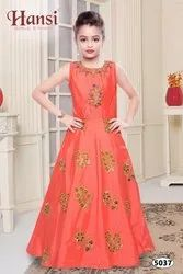 Red Girl Kids Gown