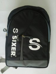 Black Polyester Sixer Sports Bag