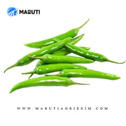 A Grade 12-14 Cm Fresh Green Chilli, For Food, Packaging Size: 10 Kg