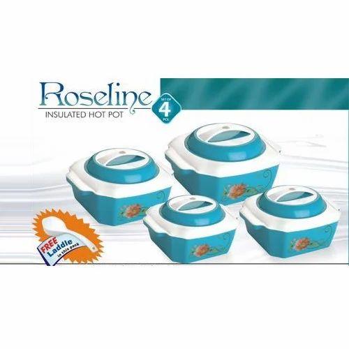 Plastic Roseline Hot Pot 4 Piece Casserole Set