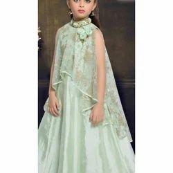 Satin Party Wear Kids Gown