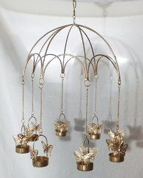 Iron Hanging Butterfly T Lights
