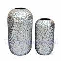 Decorative Aluminium Hammered Metal Vase