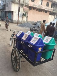 Tri-Cycle Garbage Rickshaw with Bins