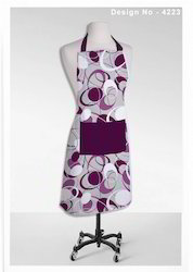 Purple Color Apron
