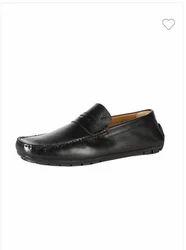 Van Heusen Black Loafers VHMMS01039 Shoes