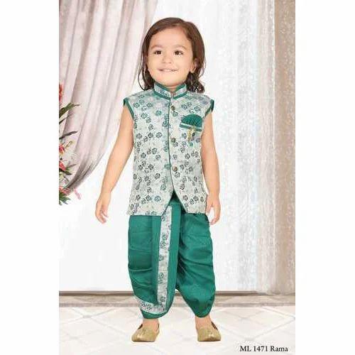 5f05d2e80 Printed Kids Party Wear Dhoti Kurta