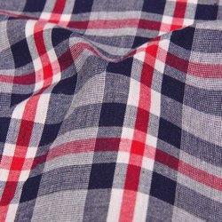 Multicolor Organic Poplin Yarn Dyed Check Cotton Fabric