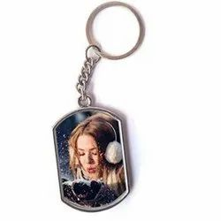 Printed Stainless Steel Sublimation Keychain, Packaging Type: Box, for Gift