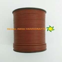 Tan Round Leather Cord