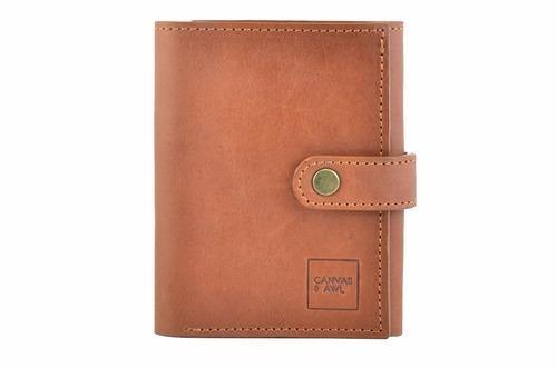 Canvas & Awl Brown Genuine Leather Men' s Wallet, Size: 9x2x11.5